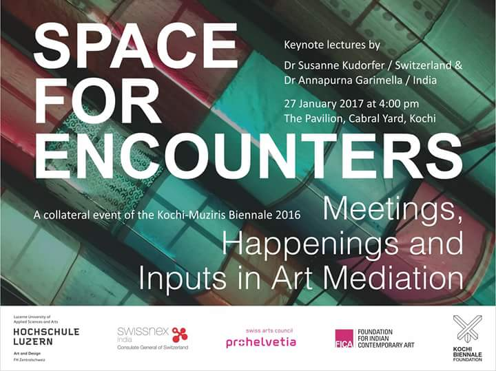 'Space For Encounter' Keynote Lecture by Kochi-Muziris Biennale on 27th Jan 2017